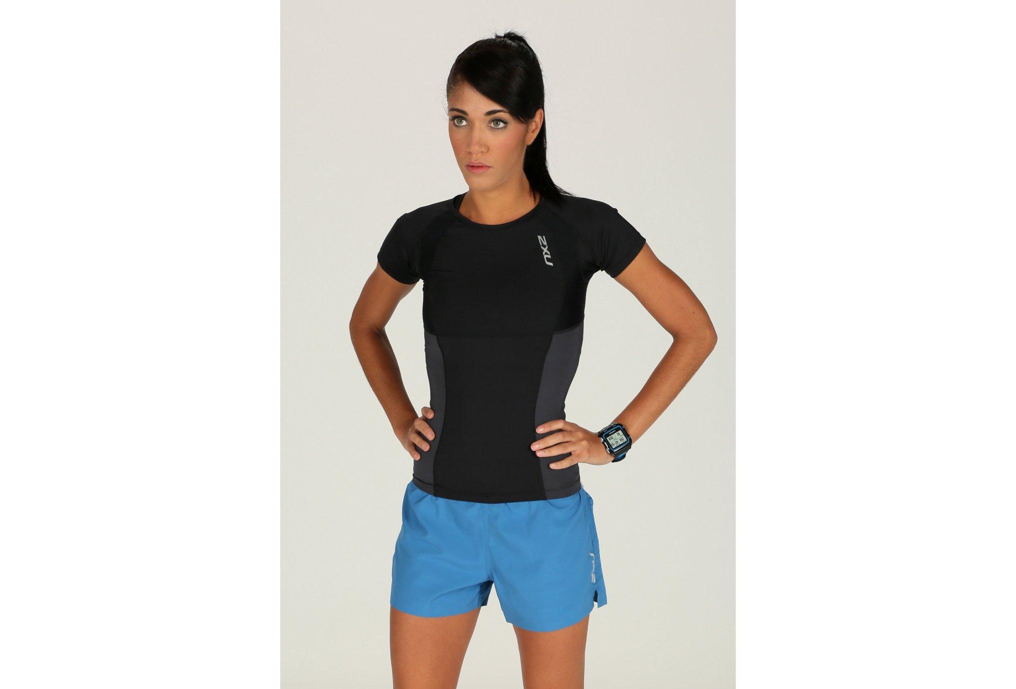 2xu Tee-Shirt elite core compression w vêtement running femme