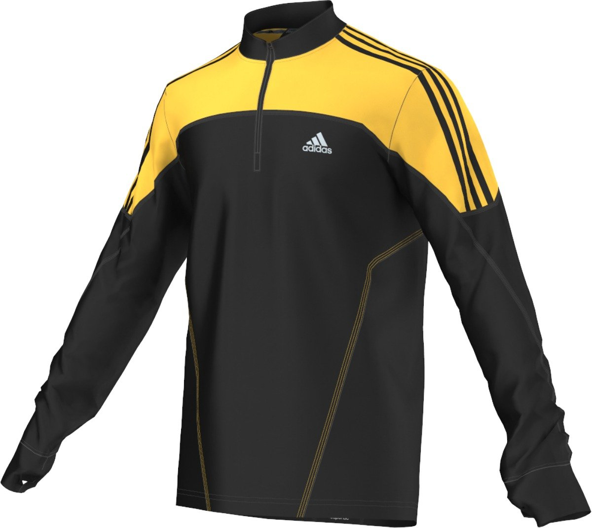 adidas Maillot Response DS Fleece 1/2 Zip M v�tement running homme