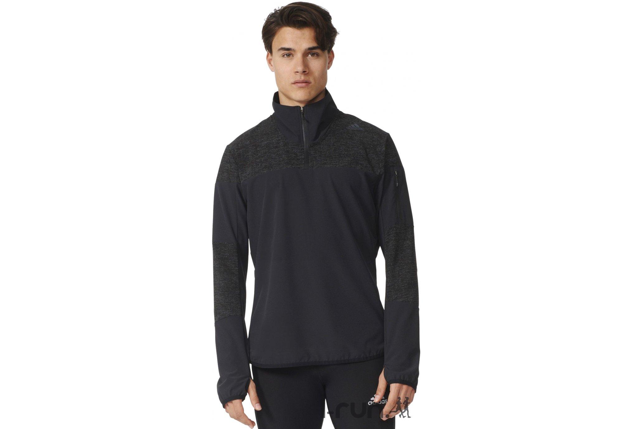 Adidas Maillot supernova storm 1/2 zip m vêtement running homme