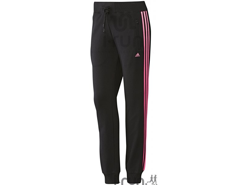 adidas pantalon de jogging slim 3s w pas cher v tements femme running fitness training en promo. Black Bedroom Furniture Sets. Home Design Ideas