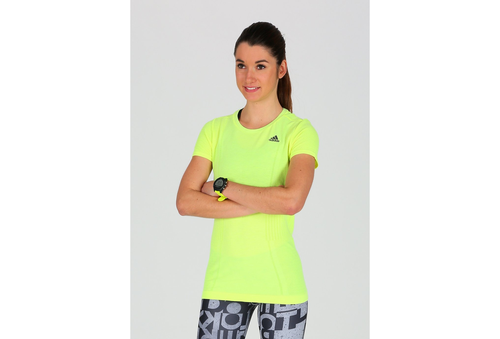 adidas Tee-Shirt AS Primeknit W vêtement running femme