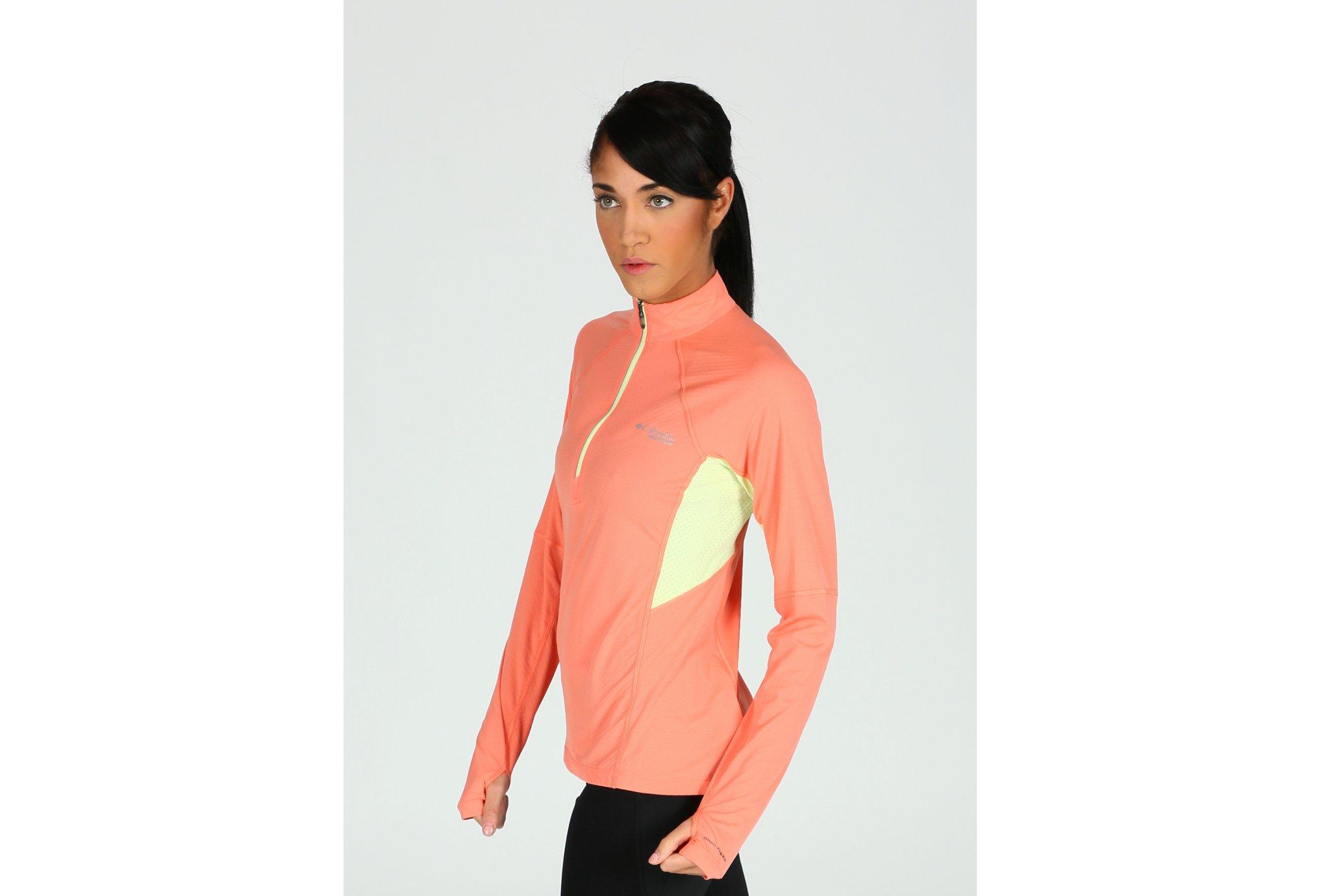 Columbia Titan Ultra demi-zip W vêtement running femme