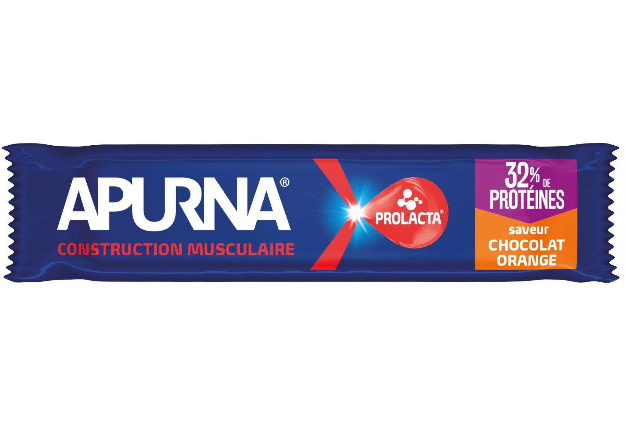 Apurna Barre Hyperprotéinée - Chocolat/Orange Diététique Protéines / récupération