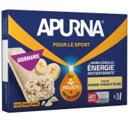 Apurna Barres énergétiques - Banane/Chocolat Blanc