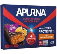 Apurna Etui Barre Hyperprotéinée - Chocolat/Orange