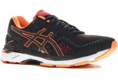 asics noir orange