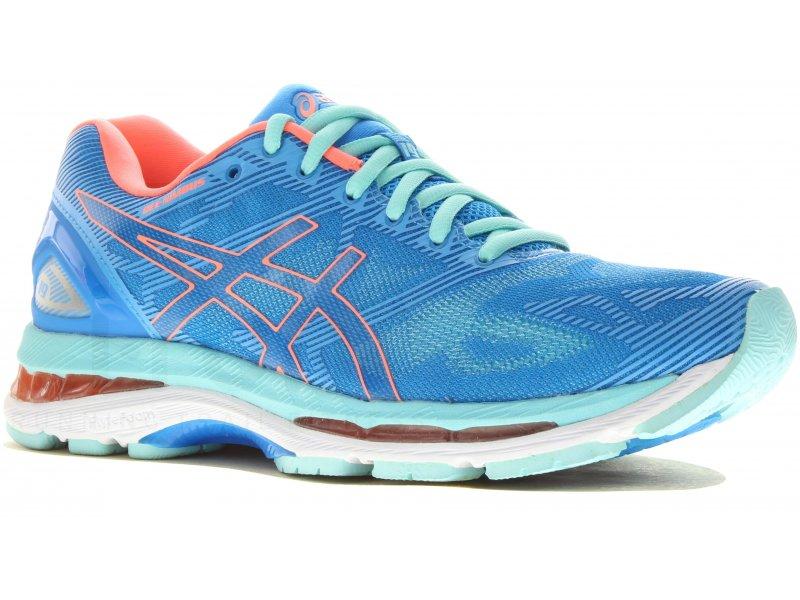 asics gel nimbus 19 w pas cher chaussures running femme running route chemin en promo