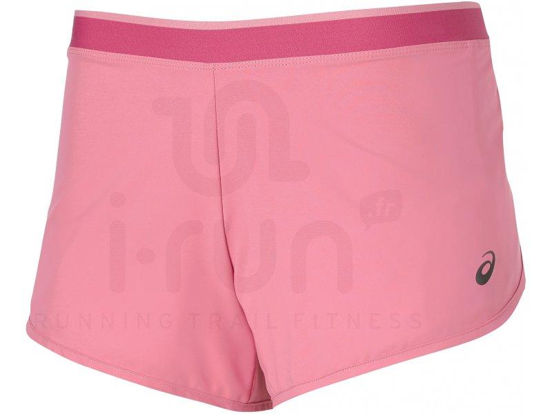 asics short 2 en 1 w pas cher v tements femme running shorts cuissards jupes en promo. Black Bedroom Furniture Sets. Home Design Ideas