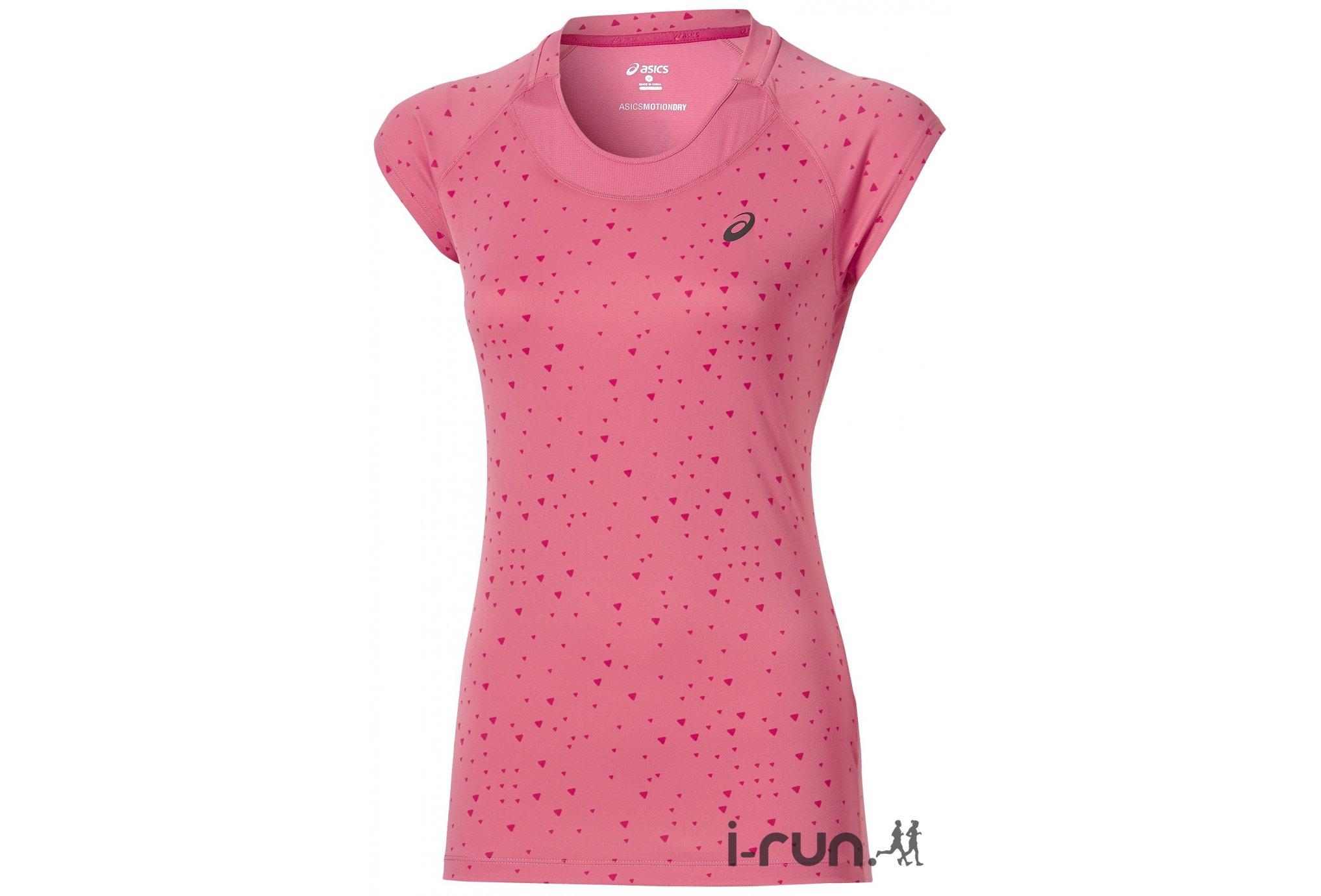 asics t shirt femme rose