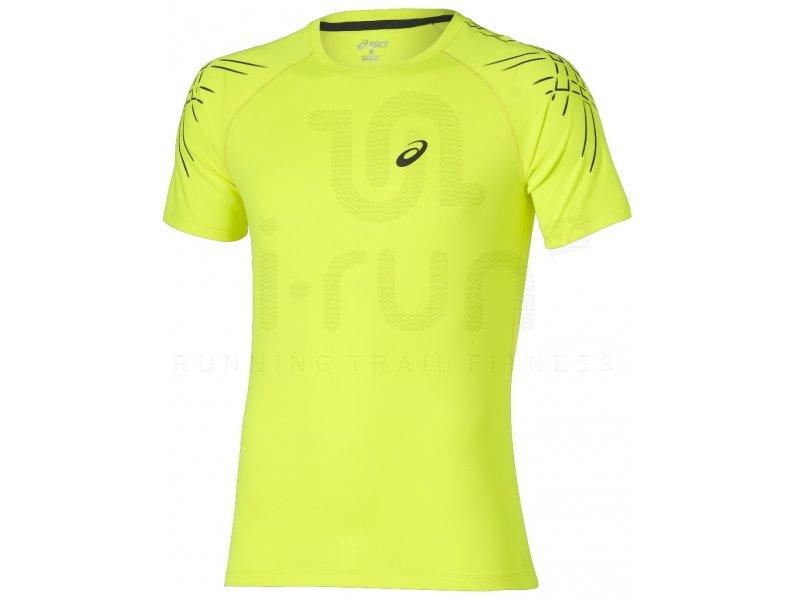 asics t shirt femme jaune