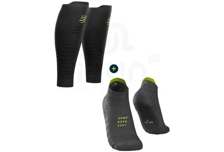 Compressport Pack Pro Racing V 3.0 Run Low Black Edition + R2 Oxygen Black Edition