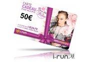 i-run.fr Carte Cadeau 50 Fête des Mères