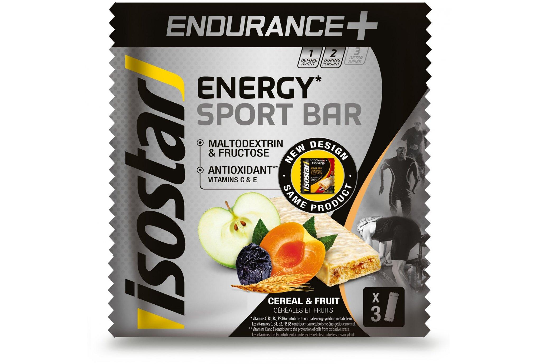 Isostar Barres Endurance + Céréales et Fruits Diététique Barres