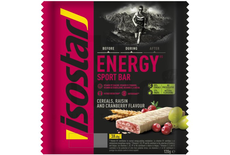 Isostar Barres High Energy - Raisin et Cranberry
