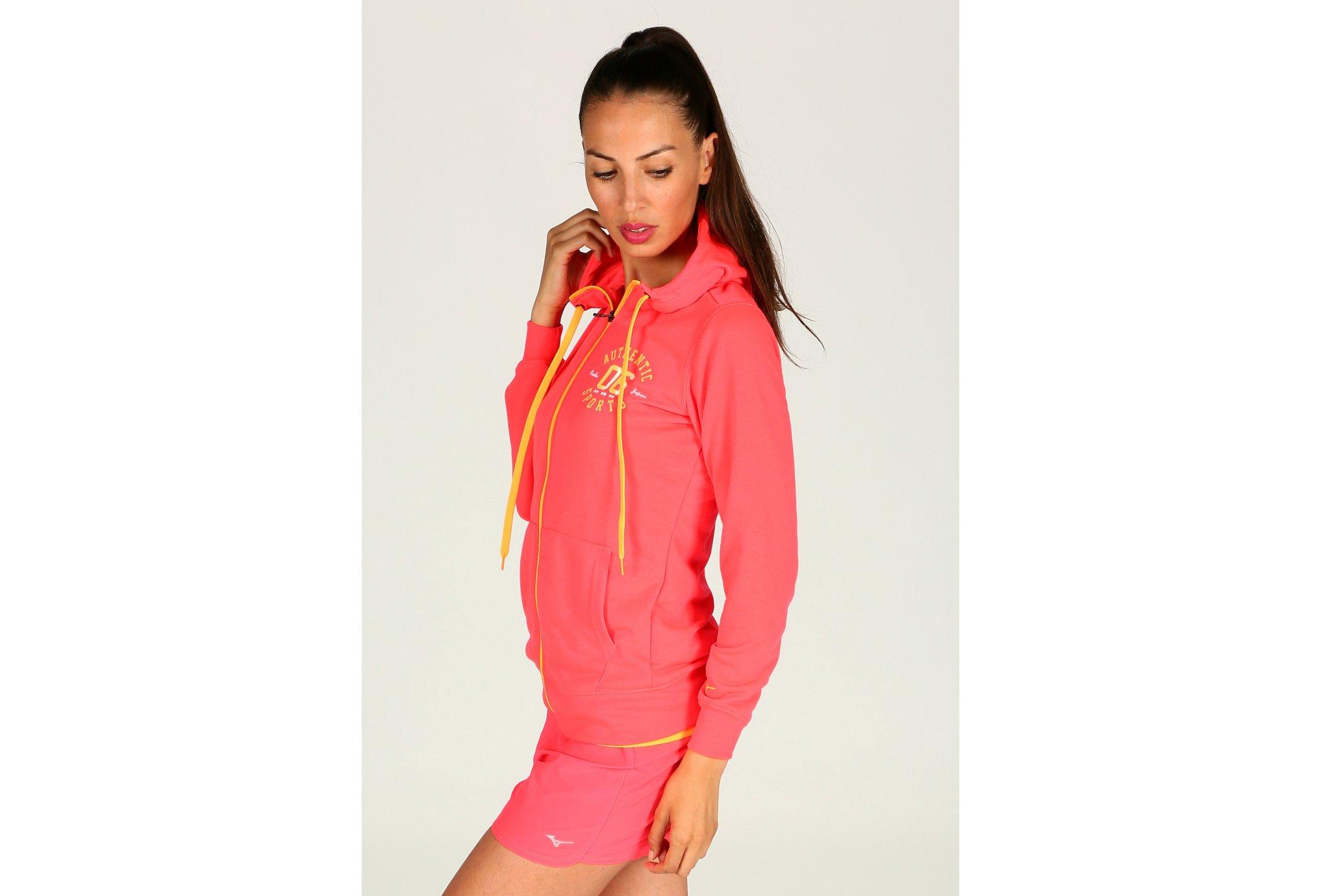 Mizuno Heritage Zip Hoody W vêtement running femme
