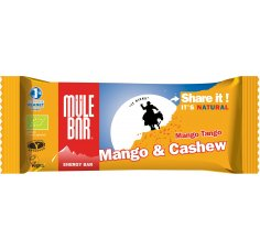Mulebar Barre Energétique Mango Tango - Mangue/Noix de Cajou