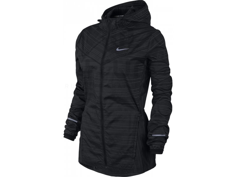 nike coupe vent vapor reflective w pas cher v tements femme running vestes coupes vent en promo. Black Bedroom Furniture Sets. Home Design Ideas