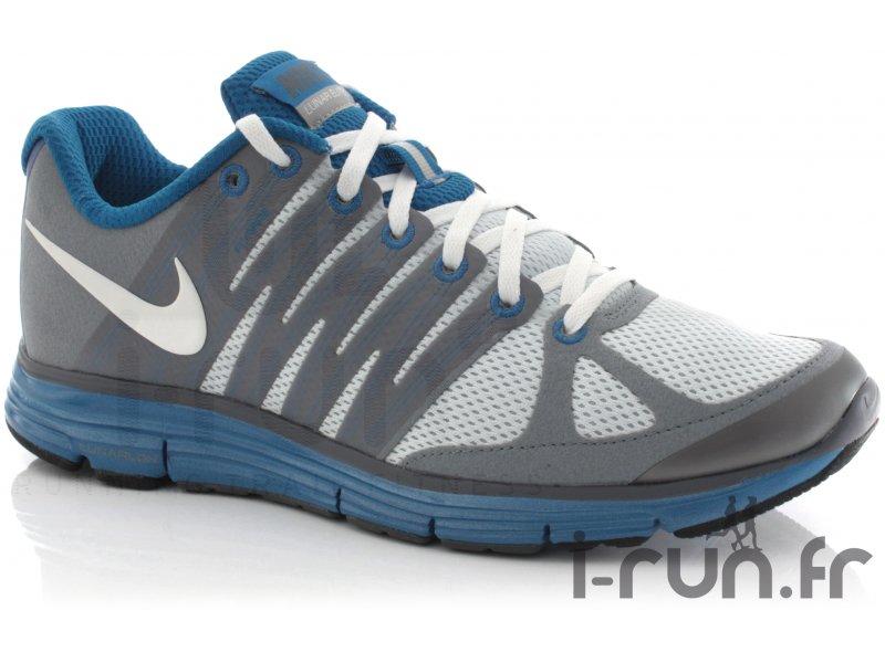 Nike Lunar Elite + 2 gris bleu pas cher - Chaussures homme running Route &  chemin en promo