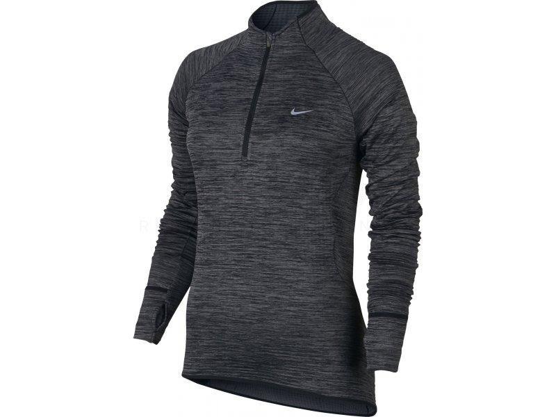 Nike Maillot Element Sphere 12 Zip W pas cher Vêtements femme running Manches longues en promo