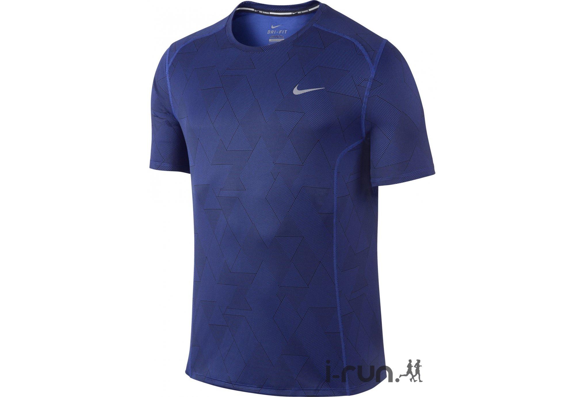 Nike Tee-Shirt Miler Optical Run M v�tement running homme