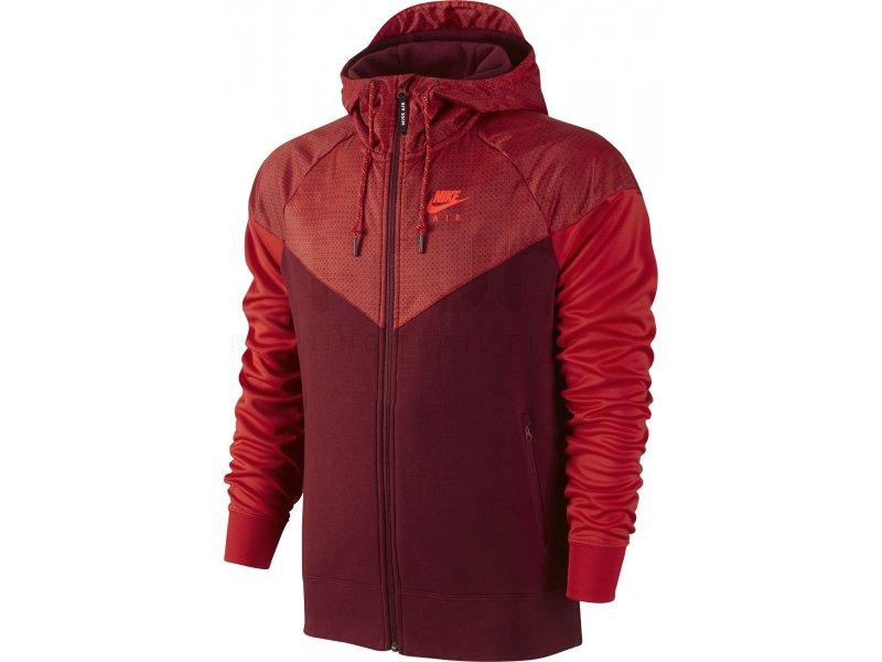 nike veste air hybrid fleece windrunner m pas cher v tements homme running sportswear en promo. Black Bedroom Furniture Sets. Home Design Ideas