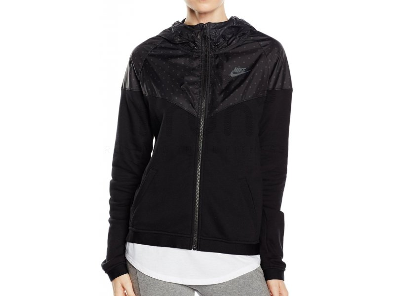 nike veste windrunner finisher w pas cher v tements femme running vestes coupes vent en promo. Black Bedroom Furniture Sets. Home Design Ideas