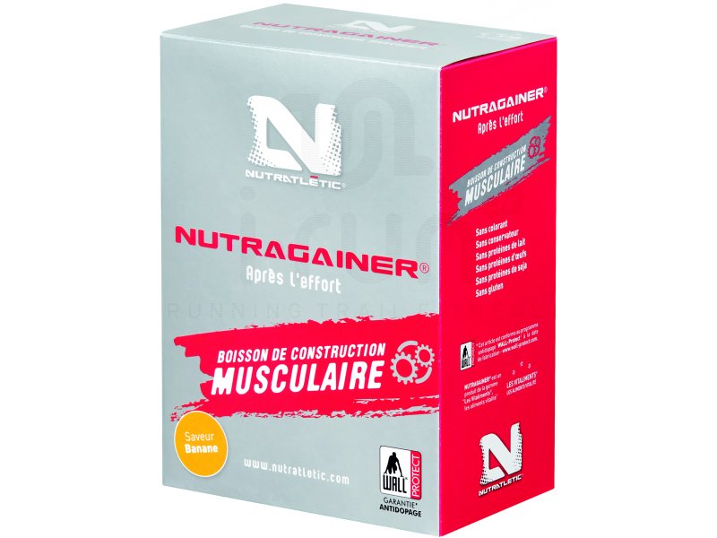 nutratl tic nutragainer banane boite de 10 sachets pas cher di t tique du sport running. Black Bedroom Furniture Sets. Home Design Ideas