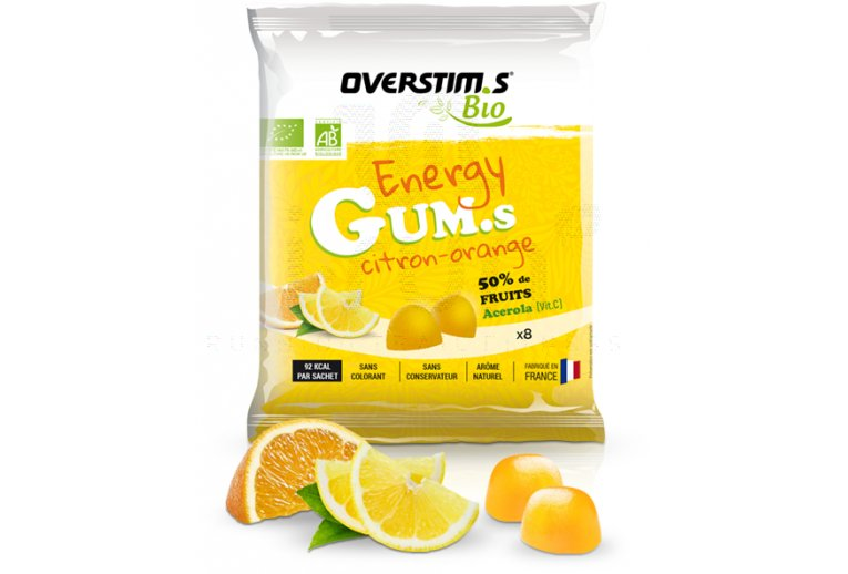 OVERSTIMS Energy Gum.s Bio - Citron-Orange