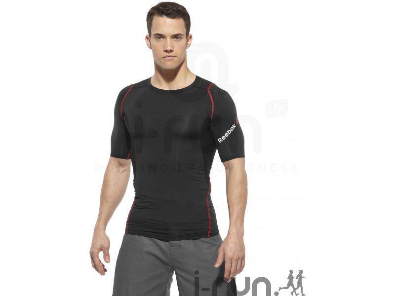 reebok t shirt crossfit compression m v tements homme running compression reebok t shirt. Black Bedroom Furniture Sets. Home Design Ideas