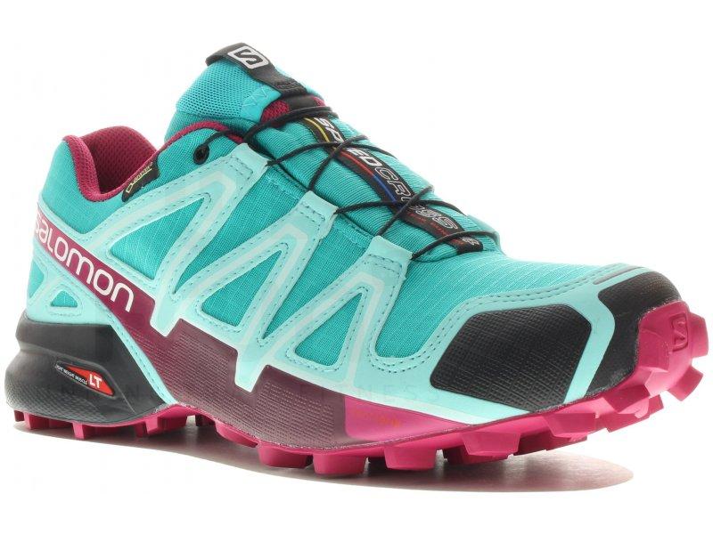 Salomon Speedcross 4 Gore,Tex W pas cher , Chaussures running femme running  Trail en promo