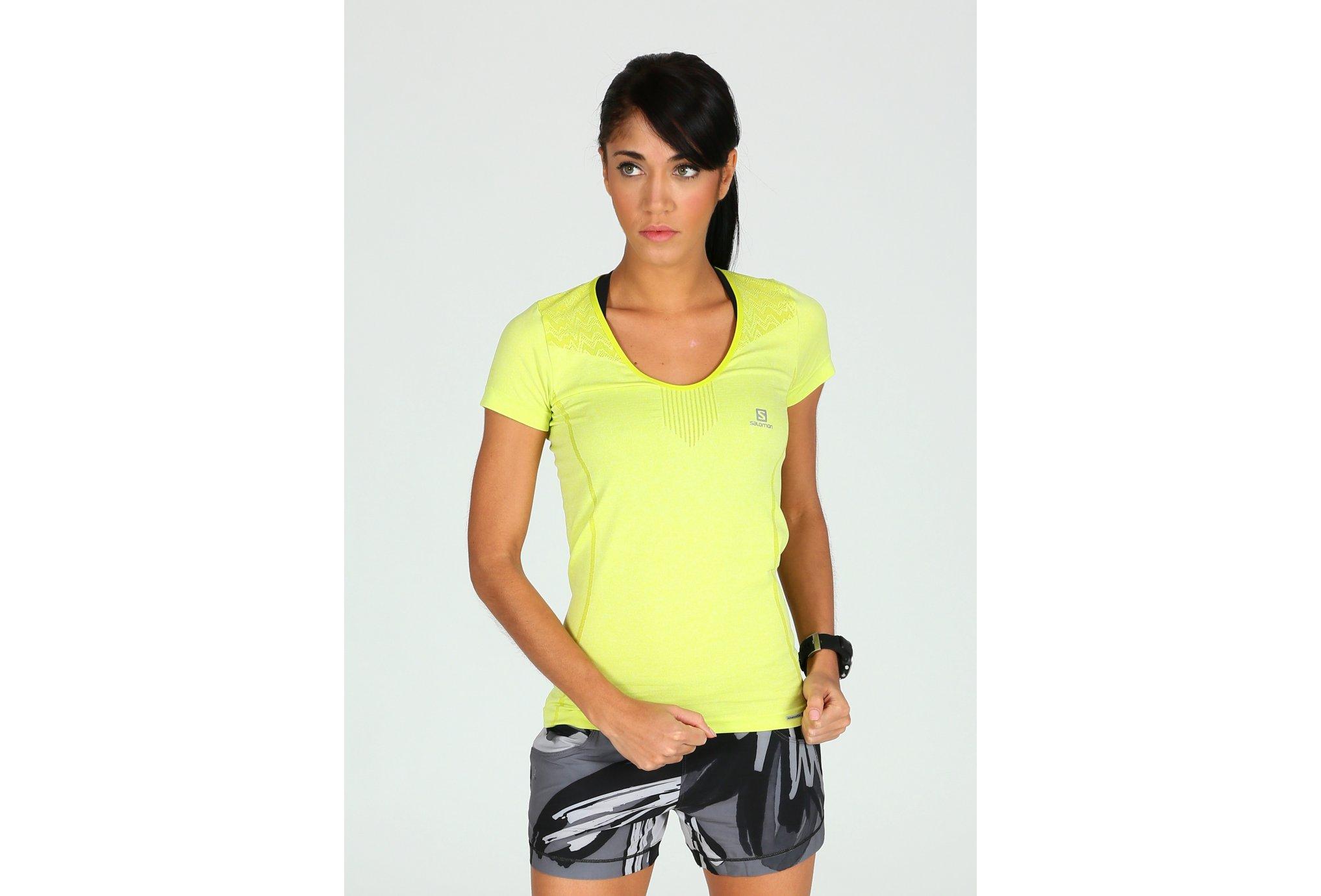 Salomon Tee-shirt Elevate Seamless W Diététique Vêtements femme