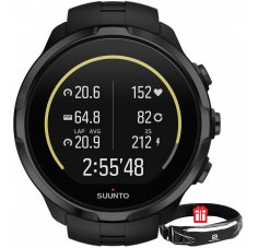 Suunto Pack Spartan Sport Wrist HR All Black + Ceinture Salomon
