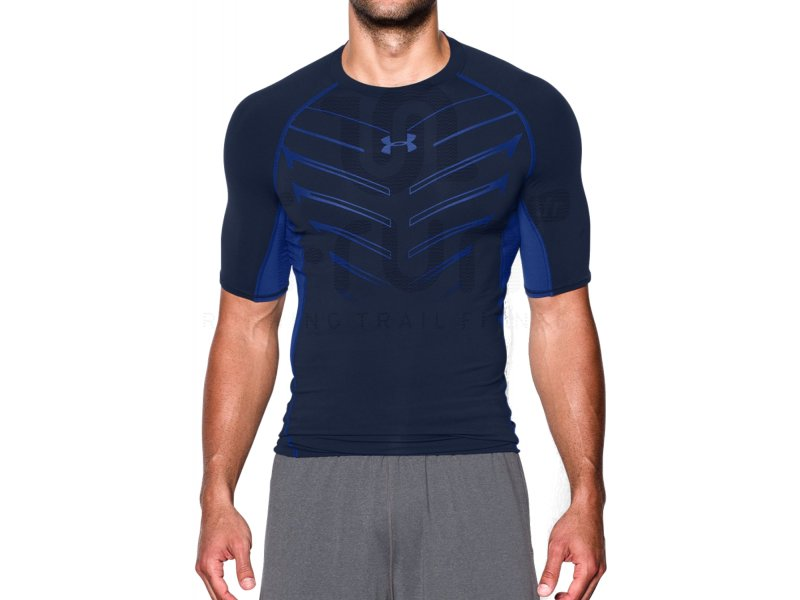 under armour tee shirt heatgear exo compression m pas cher v tements homme running compression. Black Bedroom Furniture Sets. Home Design Ideas