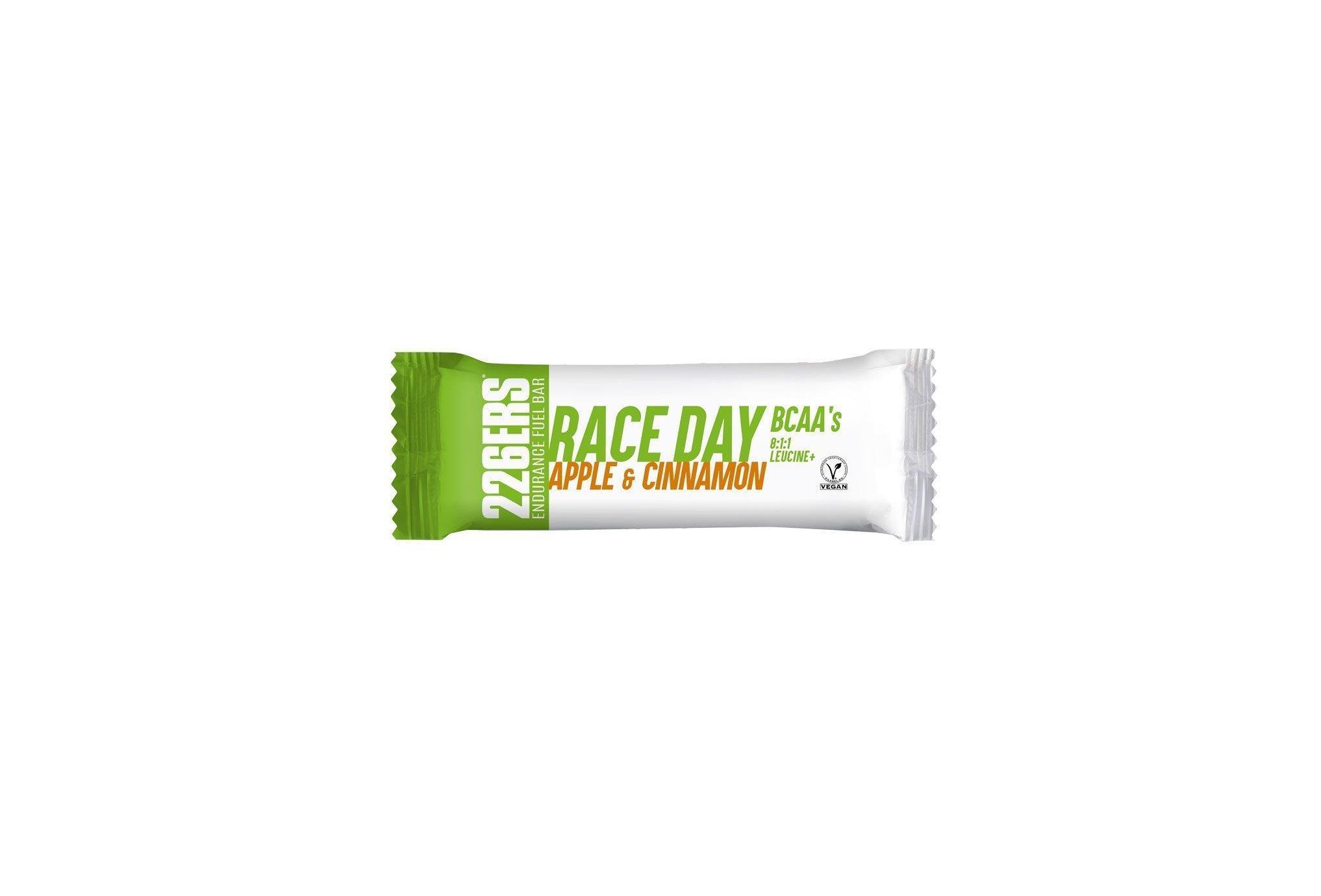 226ers Race Day BCAAs - Pomme et cannelle Diététique Barres