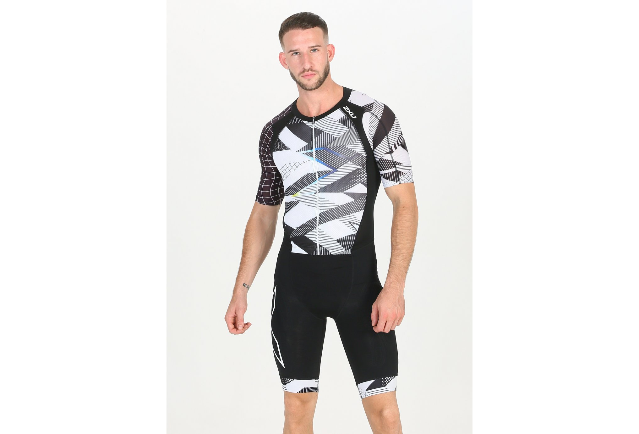 2XU Compression Full Zip Sleeved Trisuit M vêtement running homme