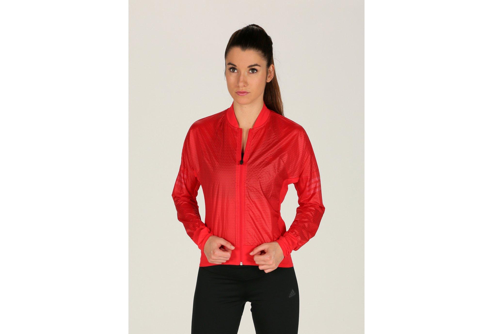 adidas adizero Track Red W Diététique Vêtements femme