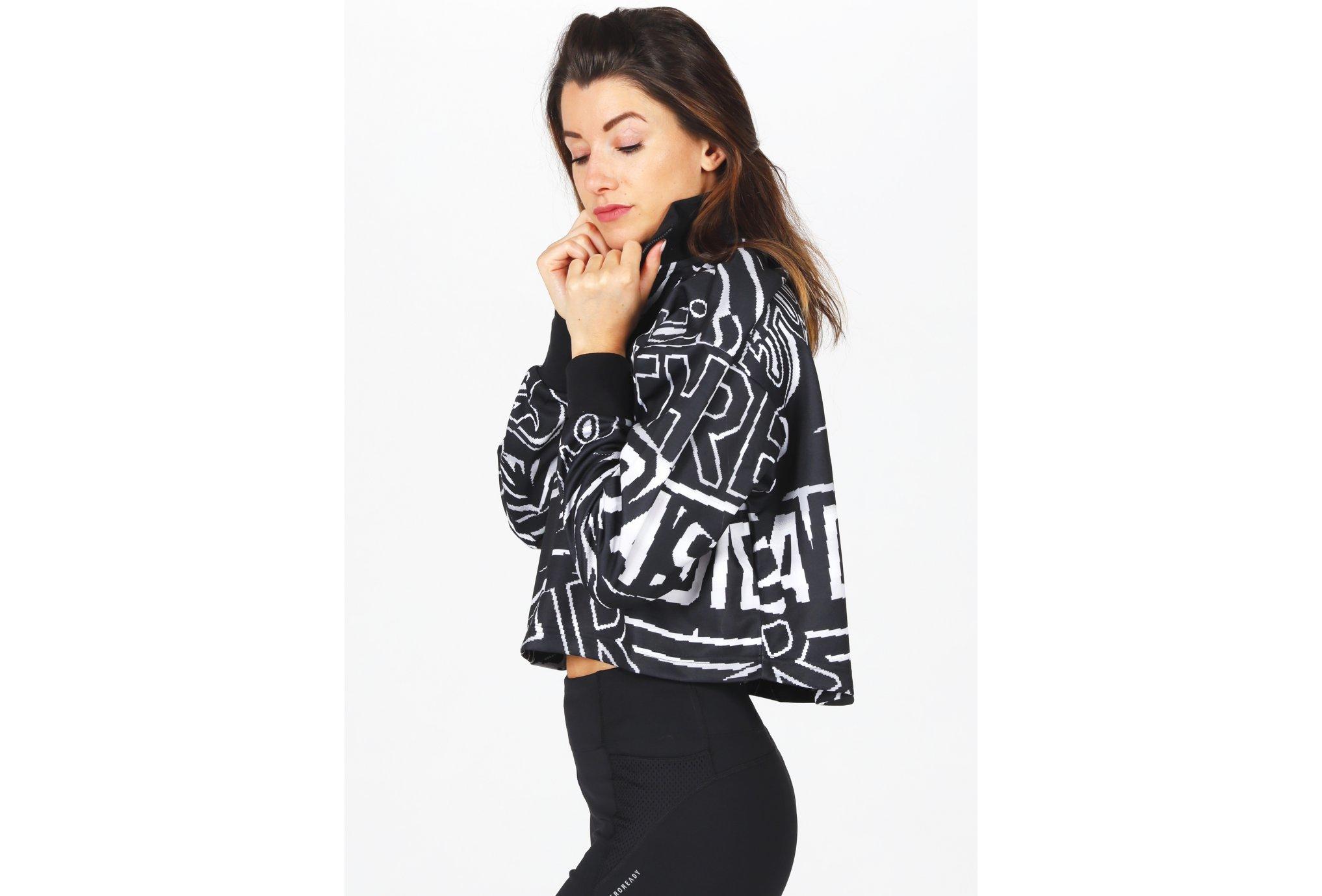 adidas Allover Print 1/2 Zip W vêtement running femme