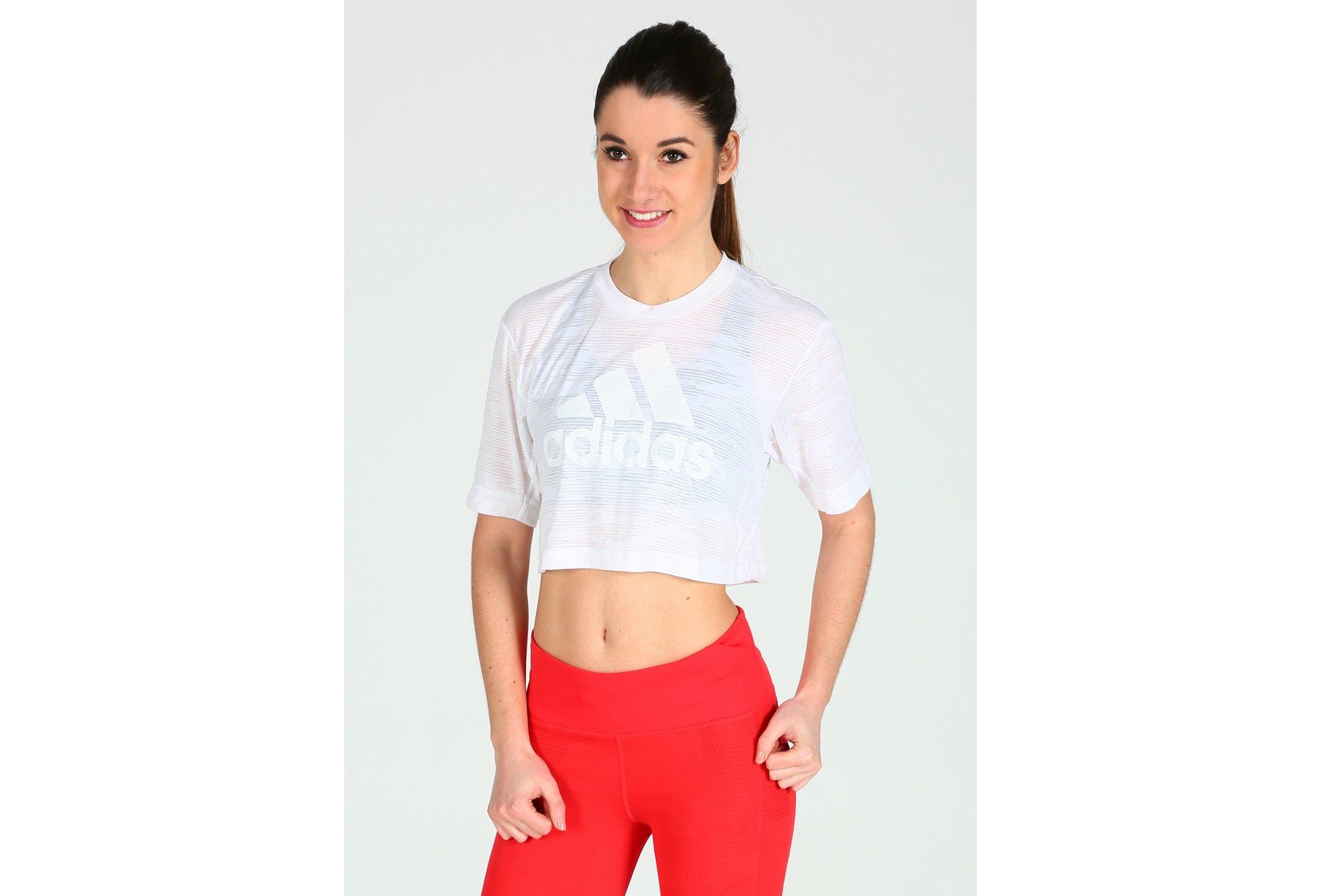 adidas Crop Top Aeroknit Boxy W Diététique Vêtements femme