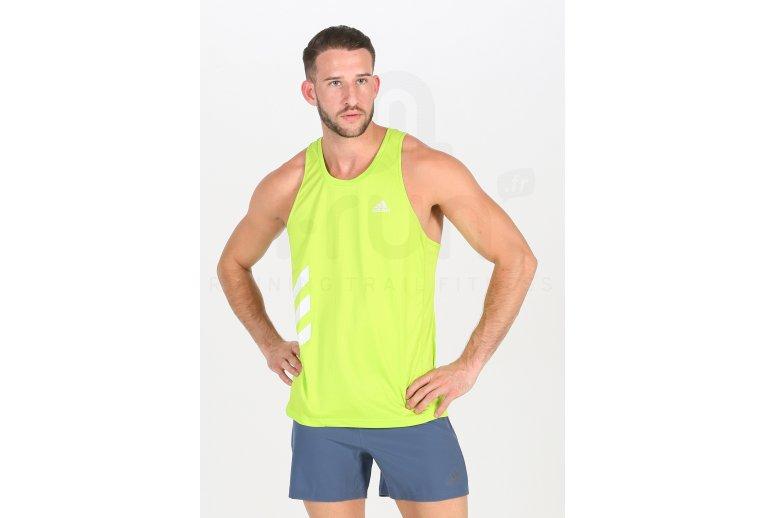 adidas camiseta de tirantes Own The Run 3-Stripes PB