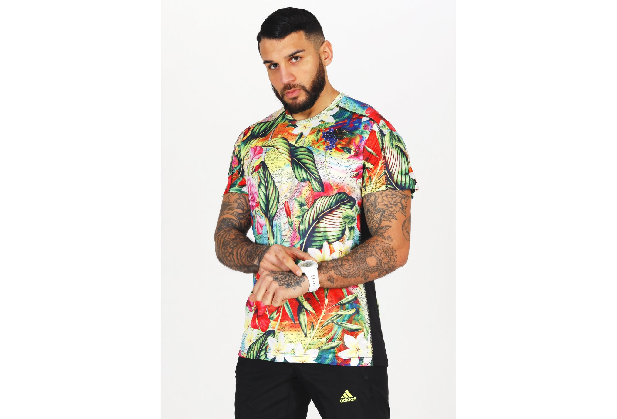 adidas Own The Run Floral Primegreen M vêtement running homme