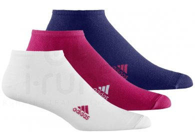 adidas Pack 3 Paires Chaussettes Fines Unies W