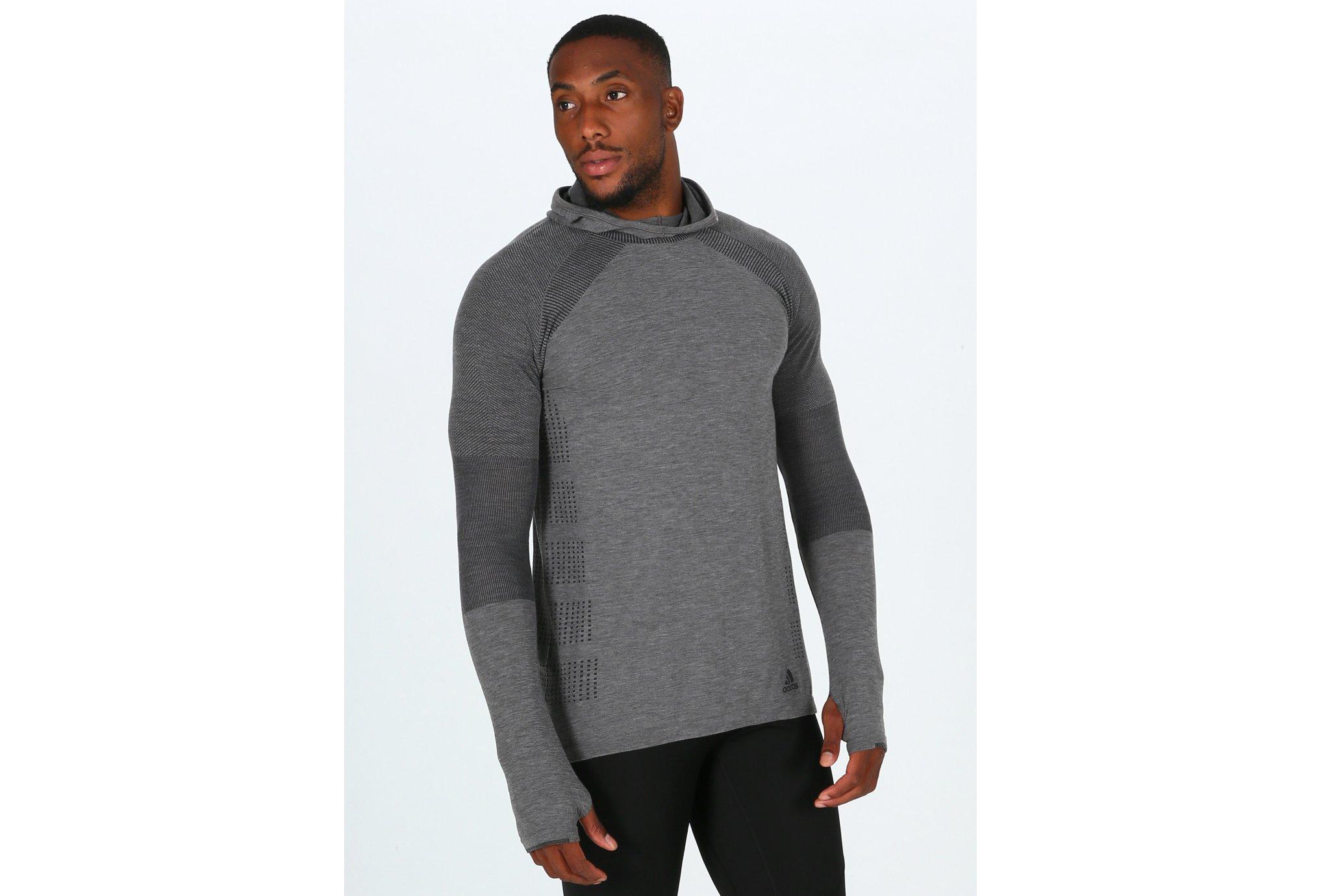 adidas Primeknit Wool Hood M Diététique Vêtements homme