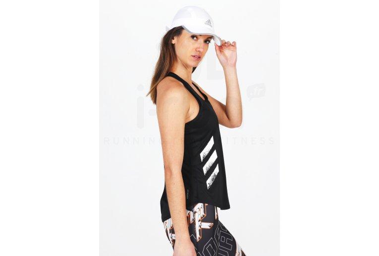 adidas camiseta de tirantes Run It 3-Stripes PB