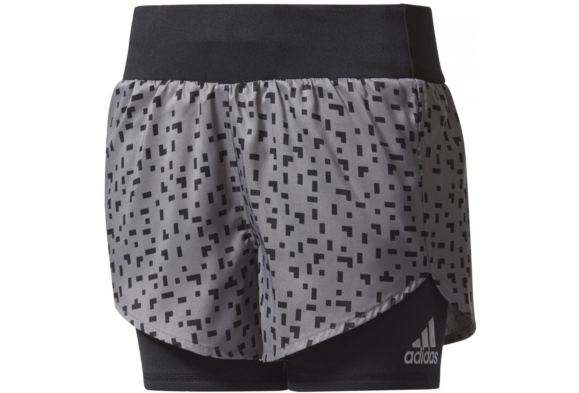 competitive price e5202 ce500 adidas Short Marathon Fille femme Noir pas cher