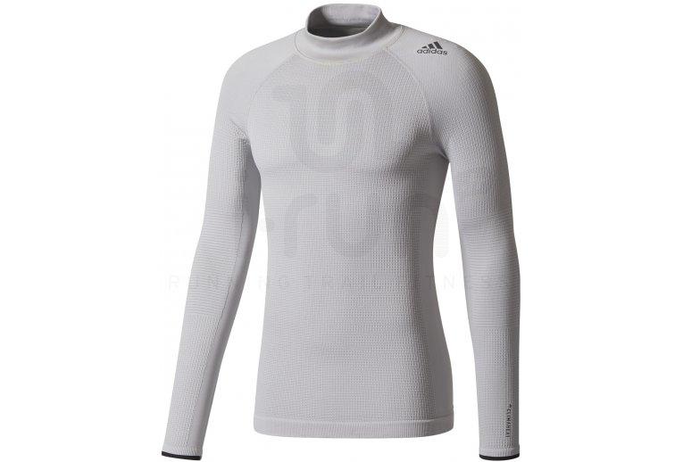 Adidas Techfit Camiseta Climaheat Promoción Larga Manga Mock En rBrvqTwx