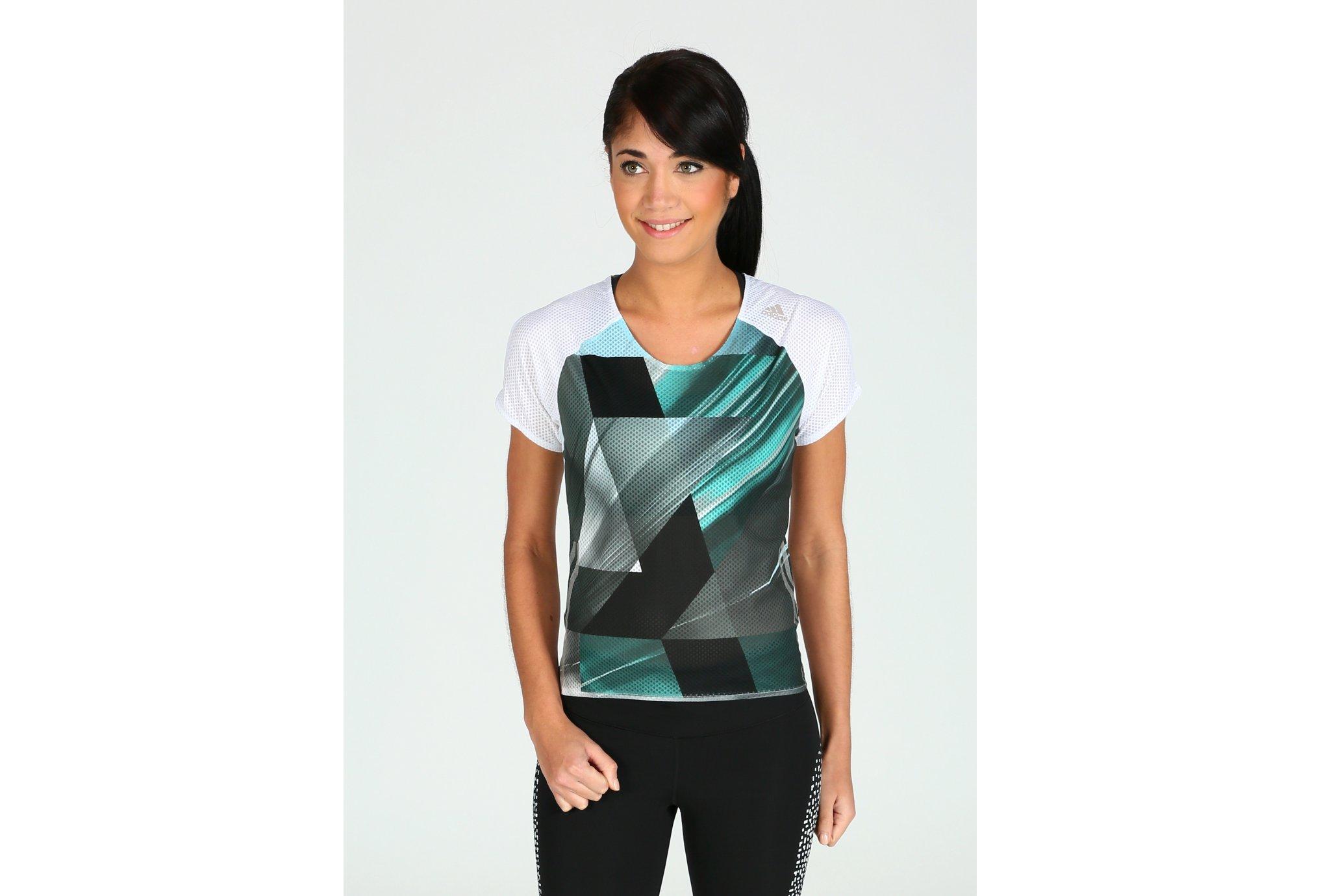 adidas Tee-shirt adizero W Diététique Vêtements femme