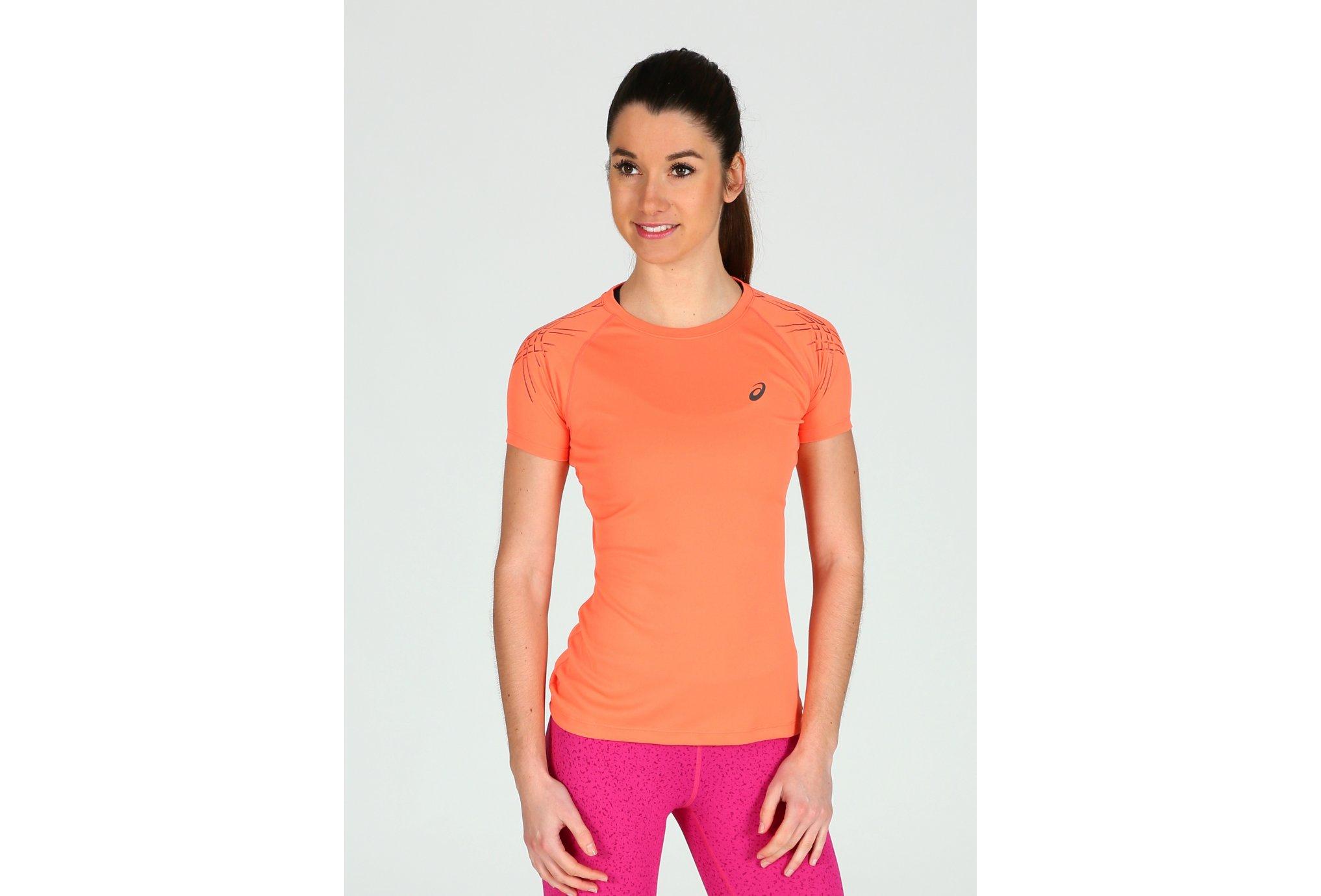 Tee Top La W Fortifiée Femme Shirt Running Vêtement Asics Stripe 8wXkOn0P