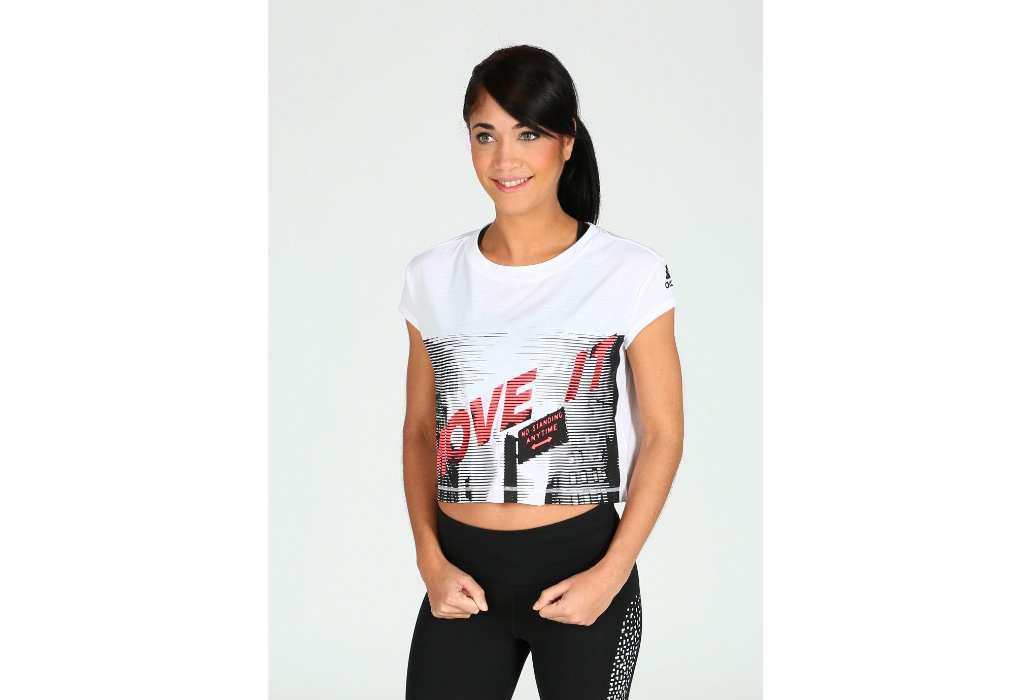 adidas Tee-Shirt Dance W Diététique Vêtements femme