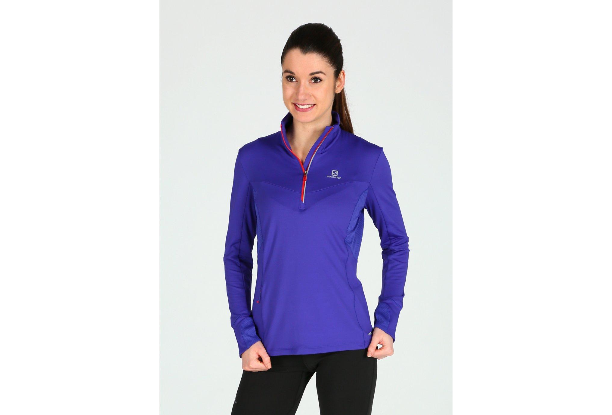Salomon Trail Runner Warm MID W Diététique Vêtements femme