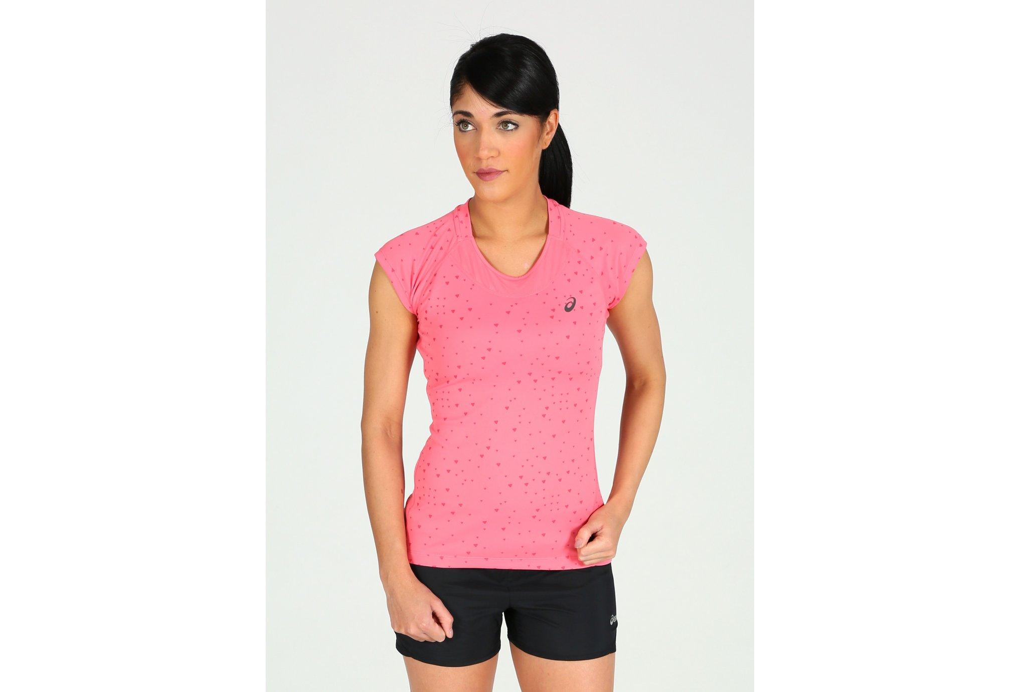 Asics Tee-shirt CapSleeve W vêtement running femme
